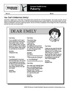 You Can't Embarrass Emily! Worksheet