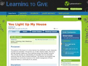 You Light Up My House Lesson Plan