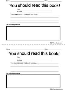 You Should Read this Book! Worksheet