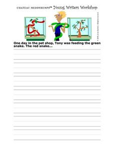 Young Writers Workshop: in the Pet Shop Worksheet