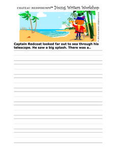 Young Writers Workshop: Looking Out To Sea Worksheet