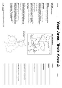 Your Area,  Their Area Worksheet