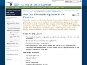 Your Own Fresh Water Aquarium in the Classroom Lesson Plan