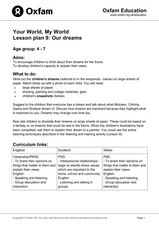 Your World, My World: Our Dreams Lesson Plan