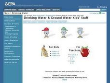 "Youth Activity: How People Get Their Water Reservoirs: ""Holding Tanks"" for Drinking Water Lesson Plan"