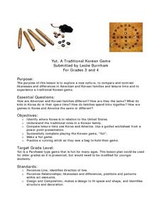Yut, a Traditional Korean Game Lesson Plan
