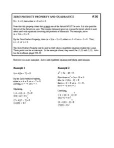 Pictures Zero Product Property Worksheet - Studioxcess