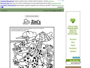 Zini Activity Page Worksheet