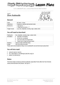 Zoo Animals Lesson Plan