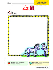 Zz - What Do You See at the Zoo? Worksheet