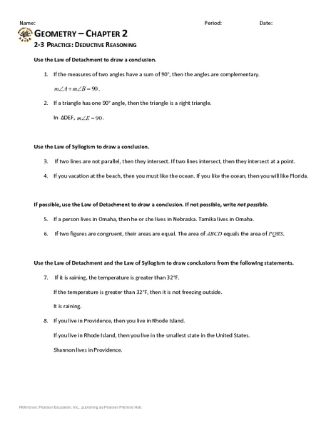 Printables Inductive Reasoning Worksheets inductive vs deductive reasoning worksheet davezan inductive