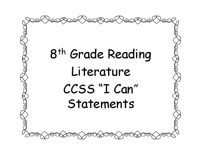 Common core language arts worksheets 8th grade
