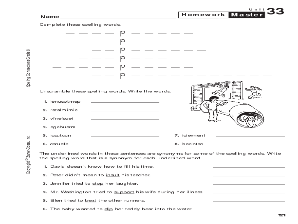Printables 8th Grade Spelling Worksheets 8th grade spelling homework master worksheet lesson planet