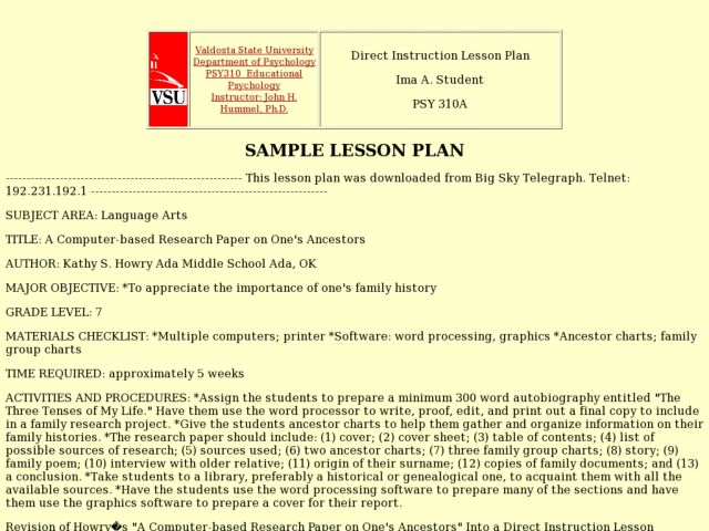writing a research paper lesson plans This lesson plan, the second part of a two online texts for the yellow wallpaper are available: students should engage actively and thoughtfully in full class discussions of key elements and the yellow wall-paper two-page writing assignment.