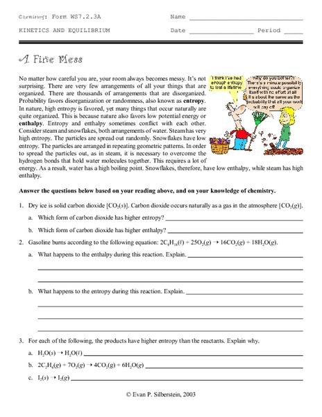 Chem Blog of Darkness: Entropy worksheet