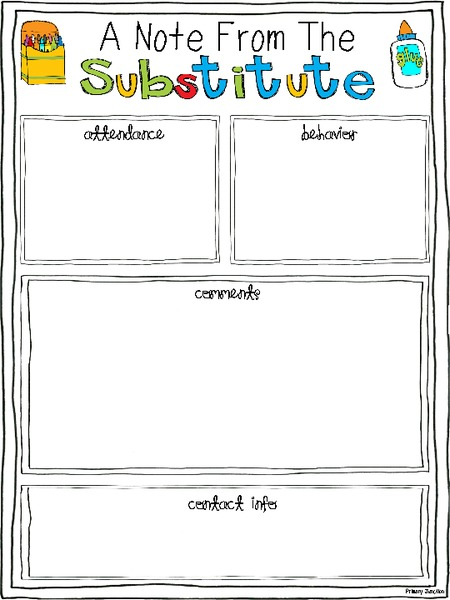 substitute teaching kits collection
