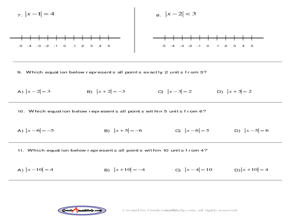 Printables Absolute Value Practice Worksheet absolute value practice worksheet davezan inequalities worksheets