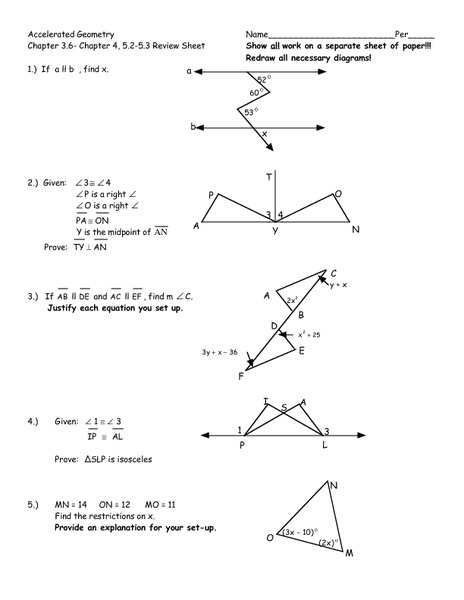 Worksheets Accelerated Math Worksheets accelerated geometry review sheet 8th 10th grade worksheet lesson planet