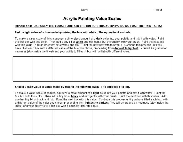 worksheets value scale worksheet opossumsoft worksheets and printables. Black Bedroom Furniture Sets. Home Design Ideas