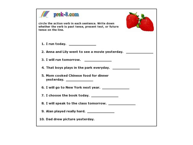 All Worksheets Future Tense Worksheets For Grade 1 Free – Verb Worksheets 5th Grade