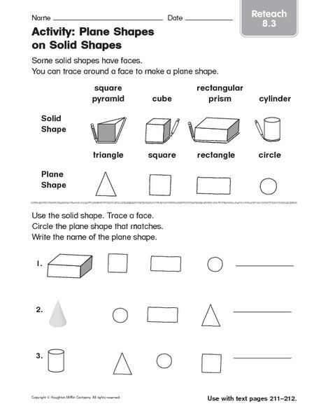 Shapes Worksheets For 2nd Grade : Plane figures worksheet nd grade geometry