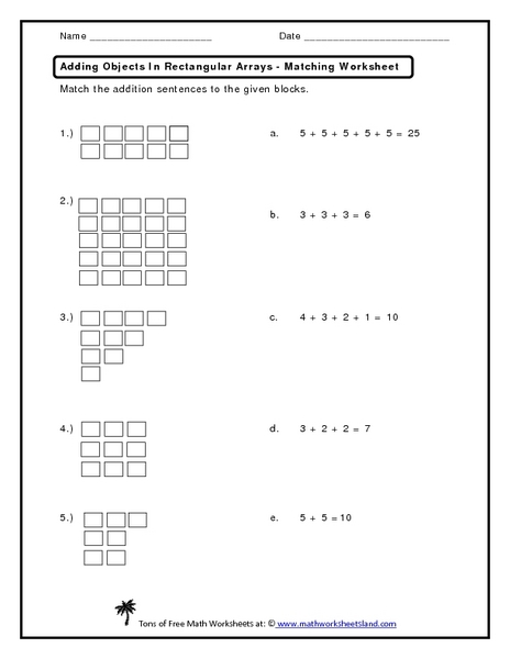 Rectangular Array Lesson Plans & Worksheets Reviewed by Teachers
