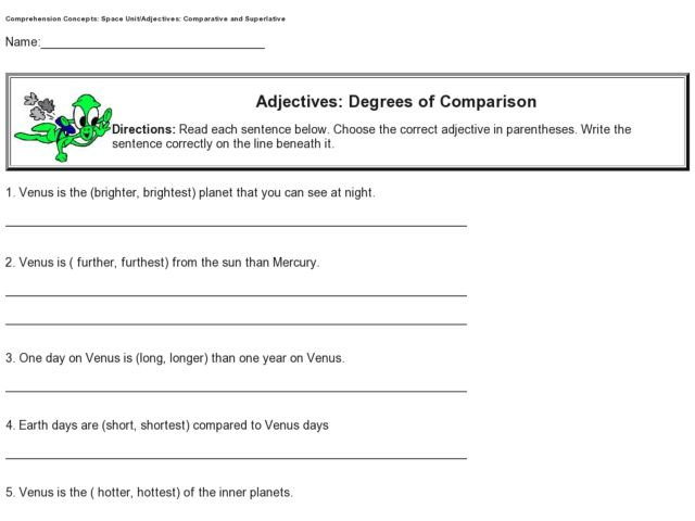 All Worksheets Degrees Of Adjectives Worksheets For Grade 3 – Adjectives That Compare Worksheets