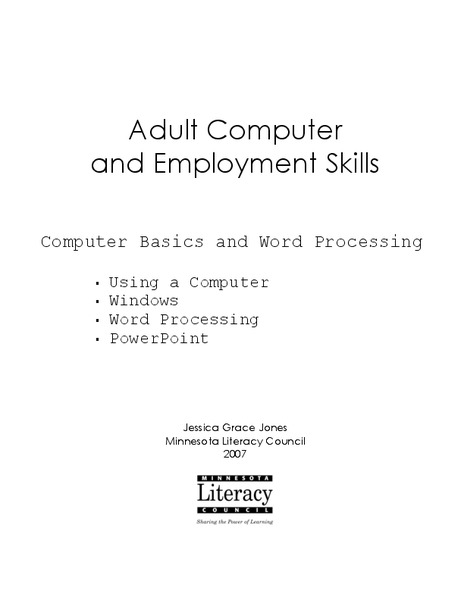 Worksheet Employment Skills Worksheets adult computer and employment skills 2nd 8th grade worksheet lesson planet