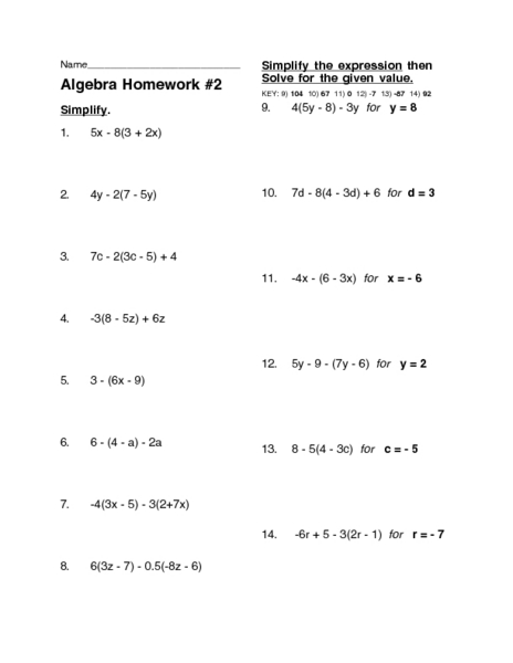 Algebra Distributive Property Worksheets Free Worksheets Library ...