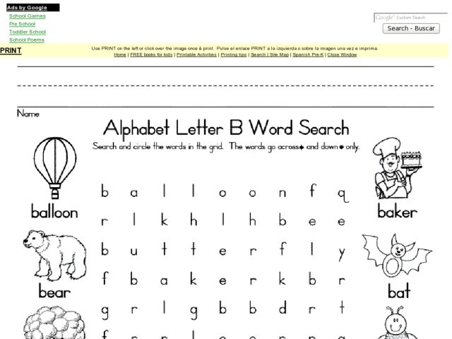 Letter B Alphabet Worksheets. The Letter B. Free Tracing Letter B ...