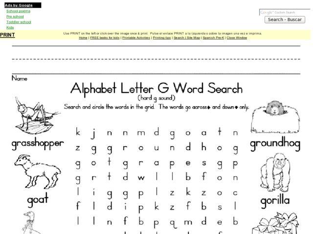Letter Search Worksheet - Bloggakuten