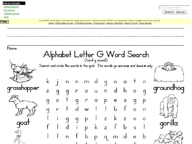 All Worksheets Free Printable Letter G Worksheets Printable – G Worksheets for Kindergarten