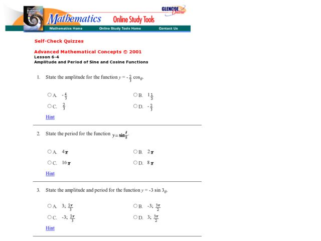 Graphs Of Sine And Cosine Worksheet – Graphing Sine and Cosine Functions Worksheet