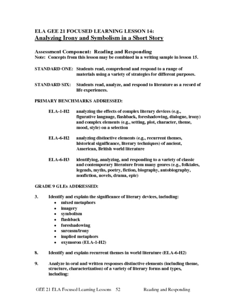 Foreshadowing worksheets pdf