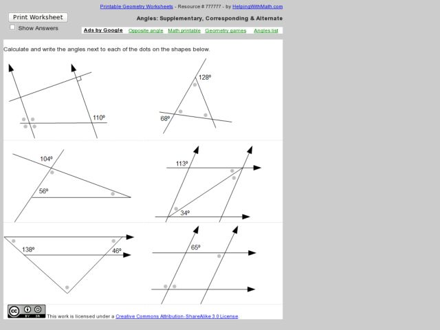 Angles Worksheet 8th Grade Templates and Worksheets – Alternate Interior Angles Worksheet