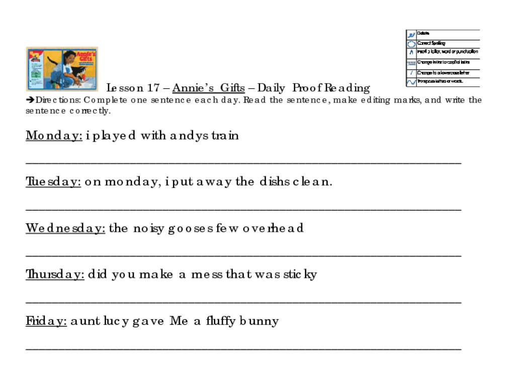 Sentence Correction Worksheets For 5th Grade - sentences worksheets ...