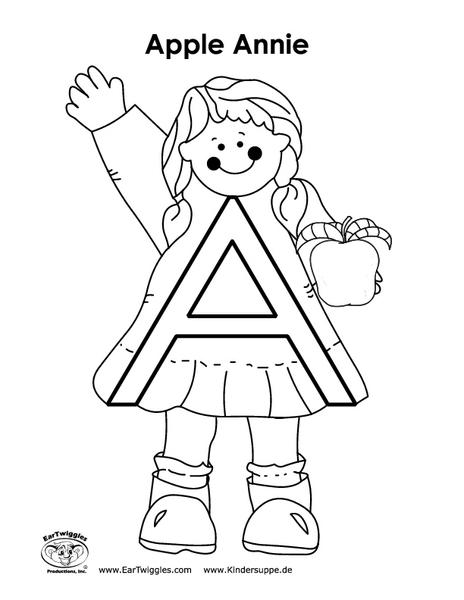 Apple Annie Pre-K - Kindergarten Worksheet | Lesson Planet