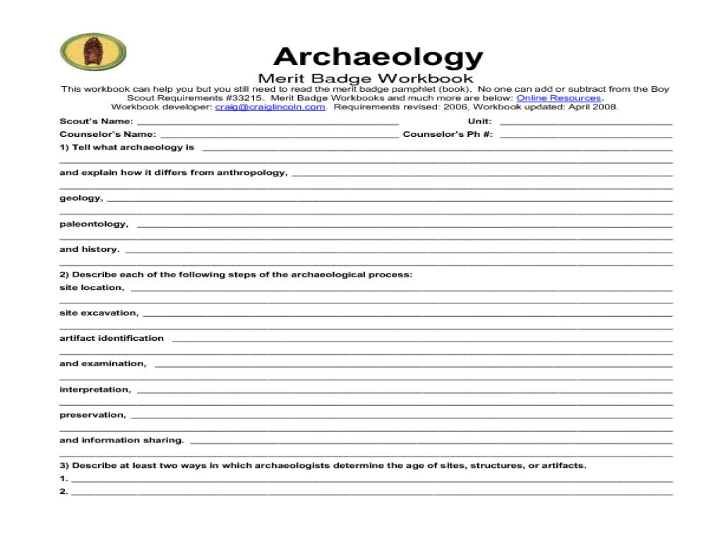 Pictures Geocaching Merit Badge Worksheet - Studioxcess