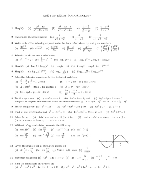 Printables Calculus Worksheets calculus 1 worksheets davezan worksheet templates and worksheets