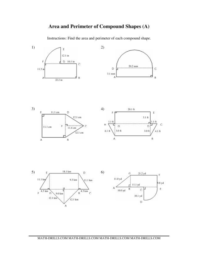 Composite Area Worksheet. Worksheets. Reviewrevitol Free printable ...