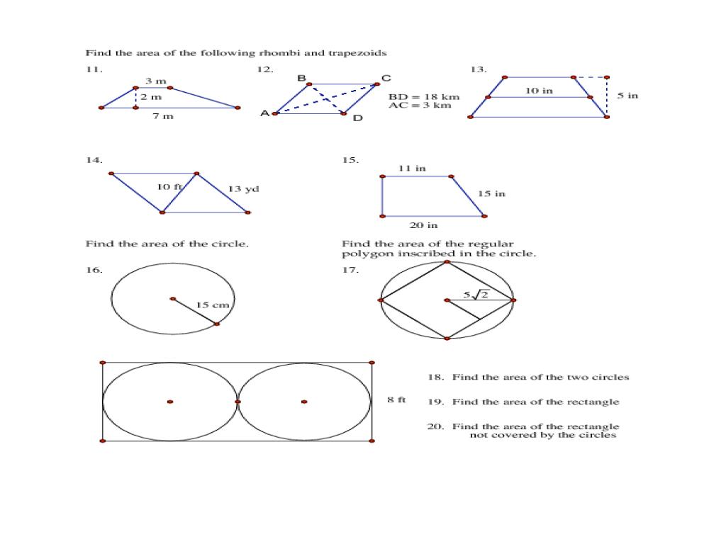 Shapes homework