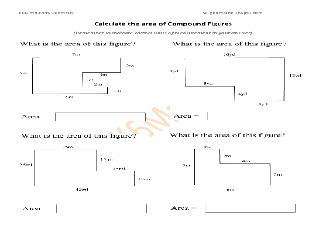 Uncategorized Composite Figures Area Worksheet worksheet compound area fiercebad and essay of figures 6th grade templates lessons tes teach