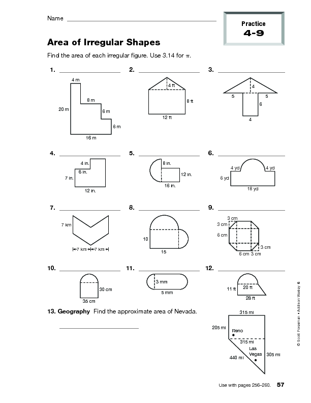 Worksheets Area Of Irregular Figures Worksheet finding area of irregular shapes worksheets hypeelite 4th 8th grade worksheet lesson planet