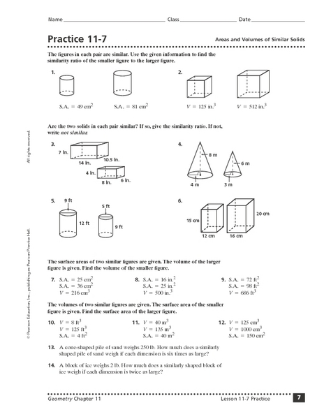 Area Of Solids Worksheet - Delibertad