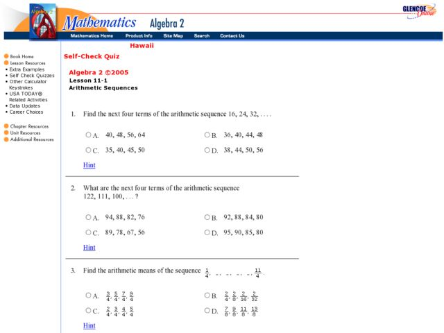 Arithmetic Sequences 9th 11th Grade Worksheet – Math Sequences Worksheets
