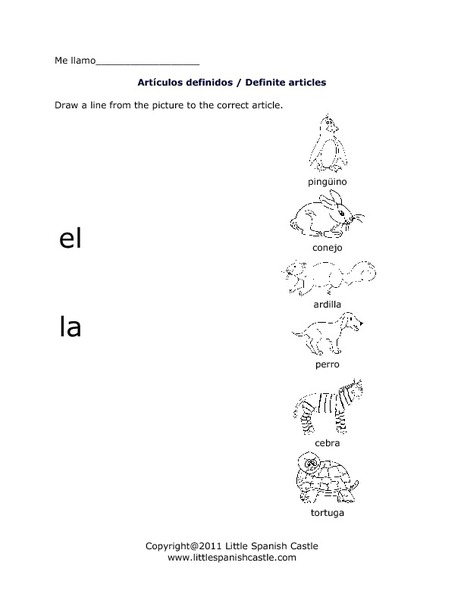 28+ [ Spanish Definite And Indefinite Articles Worksheet ...