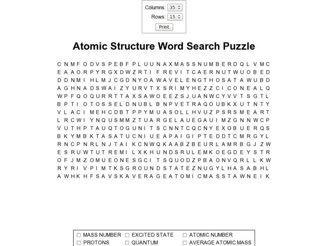 Atomic Structure Crossword Worksheet Answers worksheets – Atomic Structure Worksheets