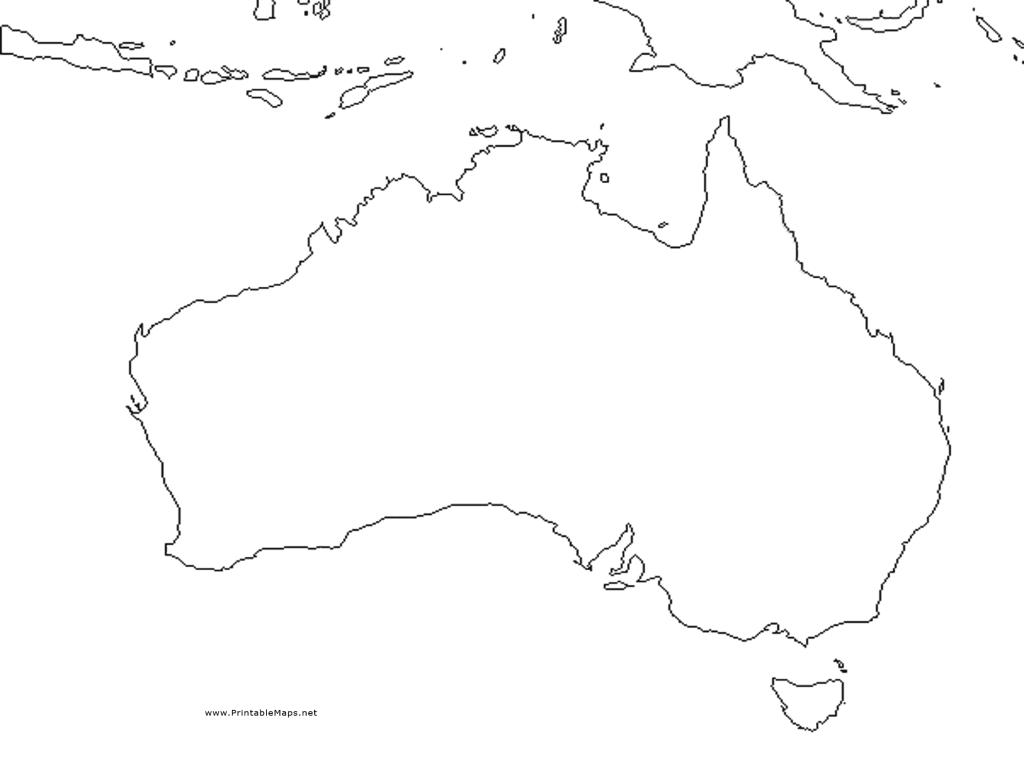 Australia Outline Map 4th 9th Grade Worksheet – Blank Map of Australia