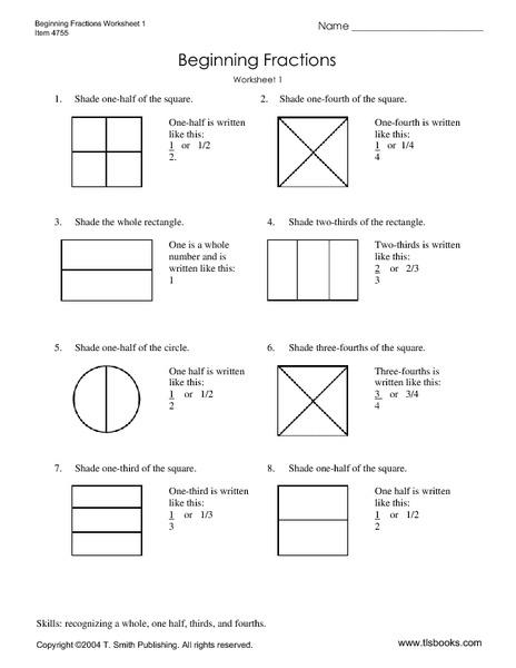 math worksheet : beginning fractions worksheet 1 3rd  5th grade worksheet  lesson  : Beginning Fraction Worksheets
