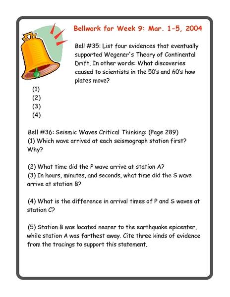 Worksheet Bell Work Worksheets bellwork worksheets 7th grade also seismic waves worksheet 6th intrepidpath